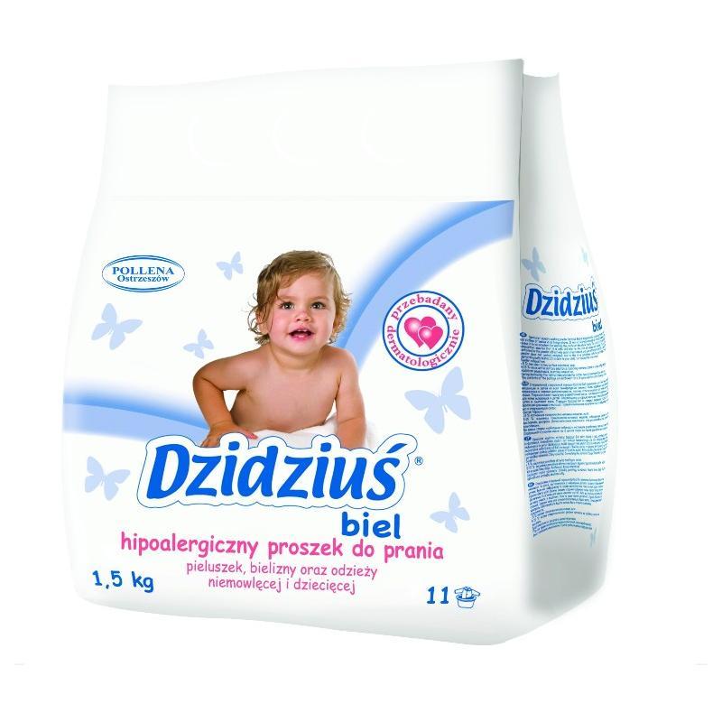 Hipoalergiczny proszek do prania odzieży niemowlęcej i dziecięcej Biel 1.5kg