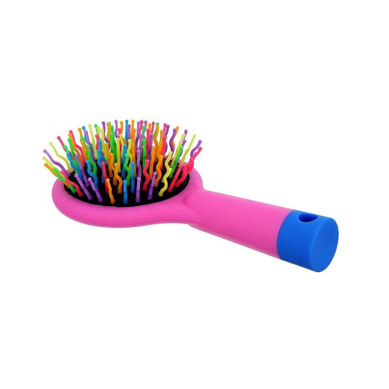 Handy Hair Brush With Mirror szczotka do włosów z lusterkiem Rose Pink