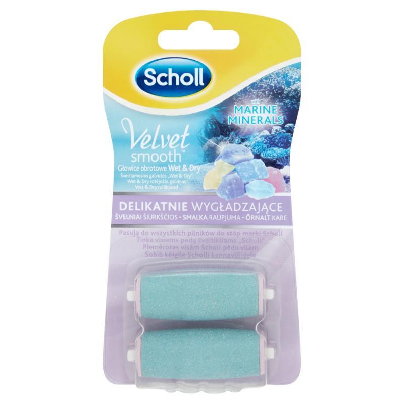 Velvet Smooth delikatnie wygładzające głowice obrotowe z minerałami morskimi 2szt.