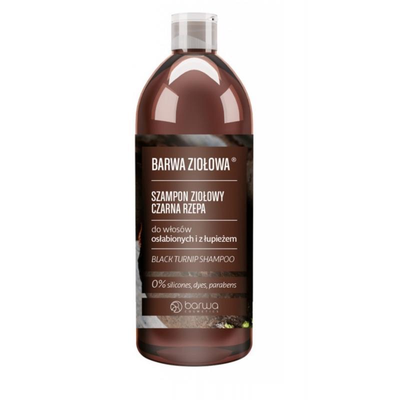 Ziołowa szampon ziołowy do włosów osłabionych i z łupieżem Czarna Rzepa 480ml