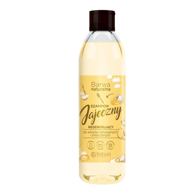 Naturalna jajeczny regenerujący szampon do włosów farbowanych i zniszczonych 300ml