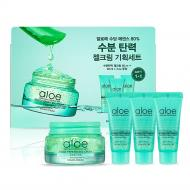 Aloe Soothing Essence 80% Gel Cream Set zestaw żelowy krem do twarzy 60ml + żelowy krem do twarzy 3x20ml