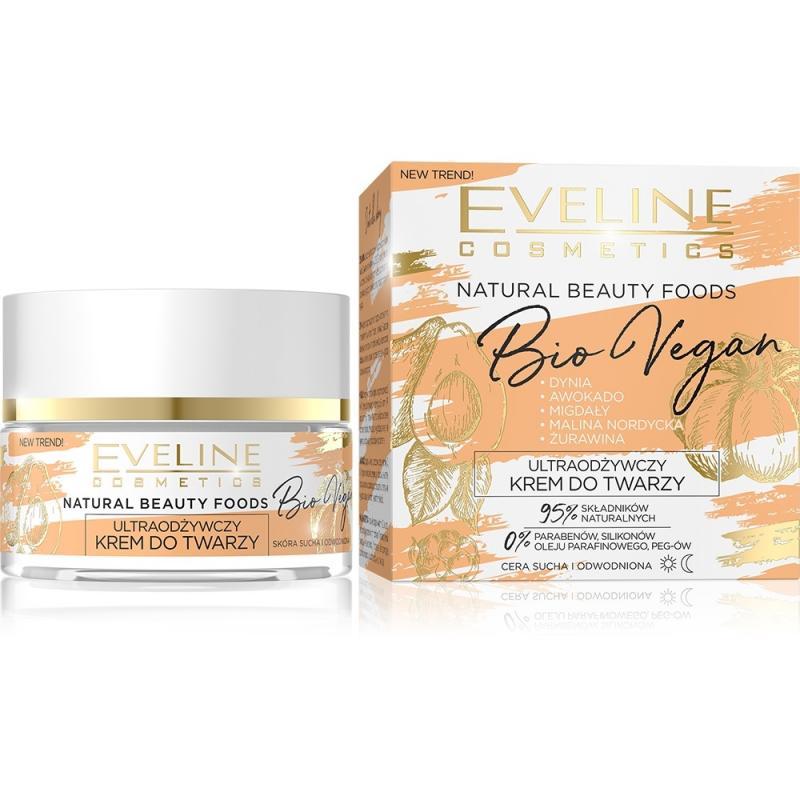 Natural Beauty Foods Bio Vegan ultraodżywczy krem do twarzy do cery suchej i odwodnionej 50ml