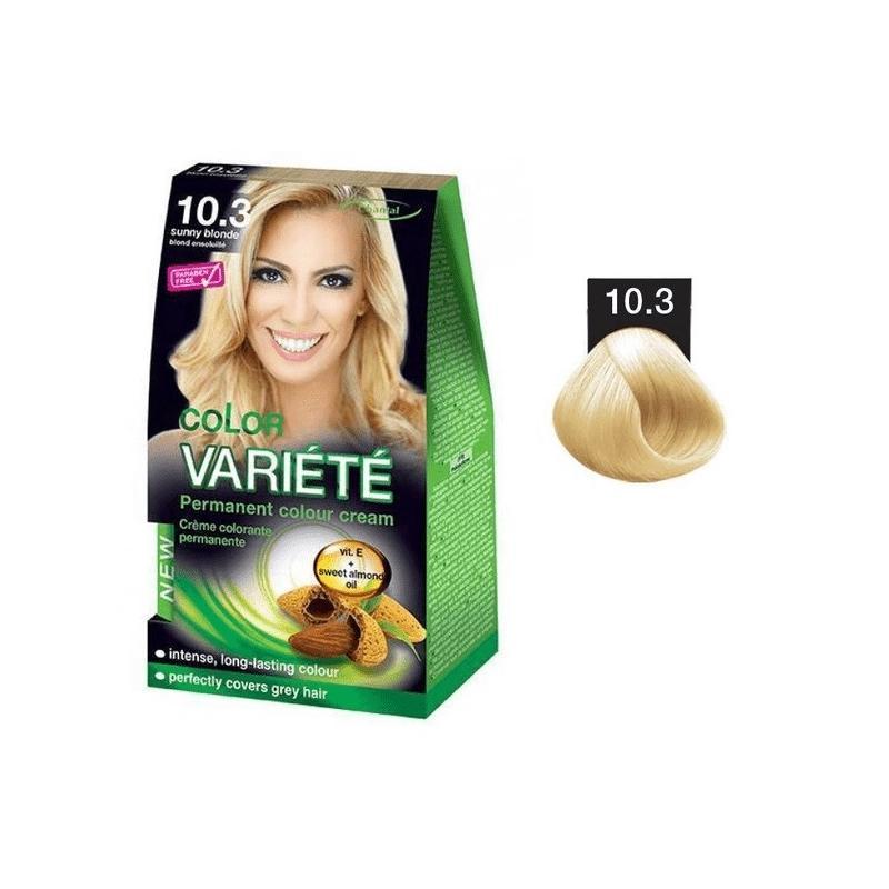 Variete Color Permanent Color Cream farba trwale koloryzująca 10.32 Satynowy Blond 50g