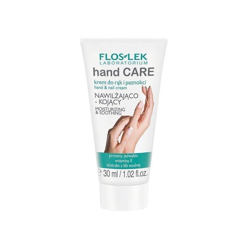 Hand Care krem do rąk i paznokci nawilżająco-kojący z proteinami jedwabiu i witaminą E 30ml