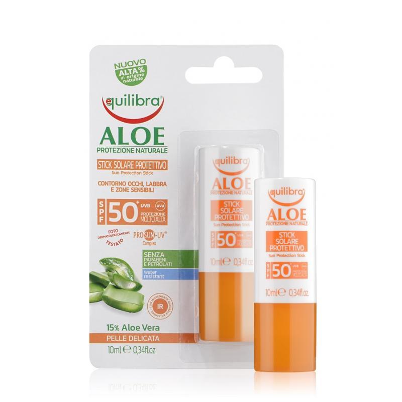Aloe Sun Protection Stick SPF50 aloesowy sztyft przeciwsłoneczny 10ml