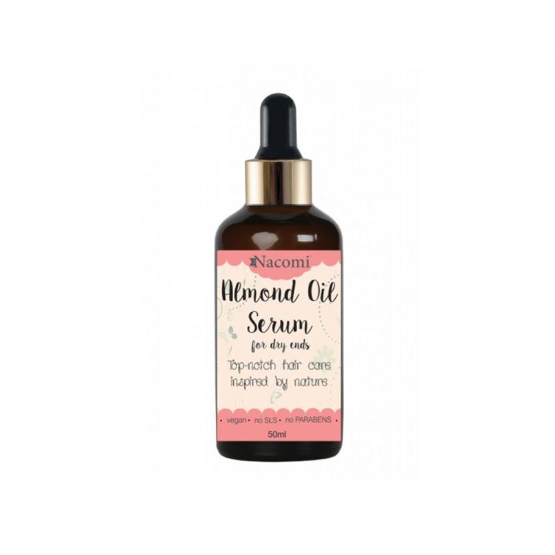 Almond Oil Serum serum na końcówki włosów z olejem ze słodkich migdałów z pipetą 50ml
