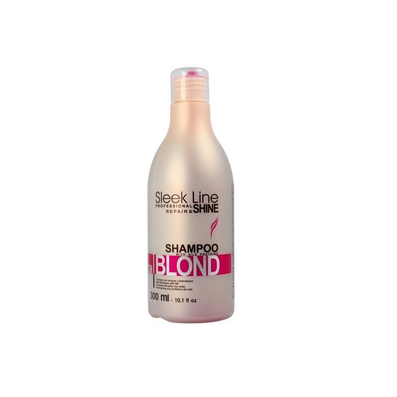 Sleek Line Blush Blond szampon nadający różowy odcień do włosów blond z jedwabiem 300ml