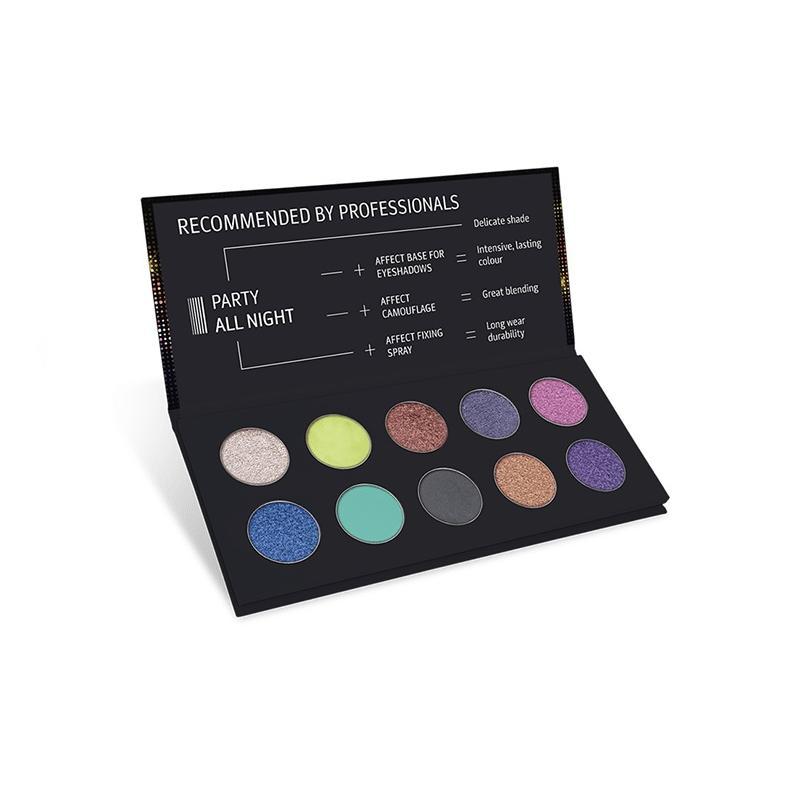 Party All Night Pressed Eyeshadow Palette paleta cieni prasowanych 10x2g