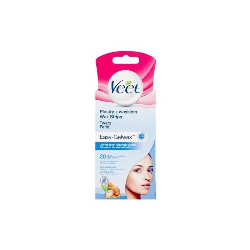 Plastry z woskiem do depilacji twarzy dla skóry wrażliwej 20szt