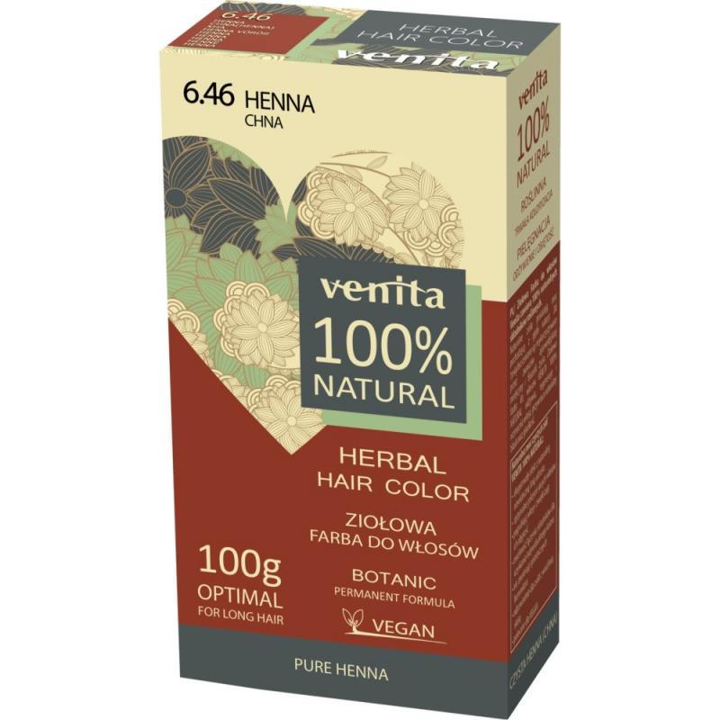 Herbal Hair Color ziołowa farba do włosów 6.46 Chna 100g