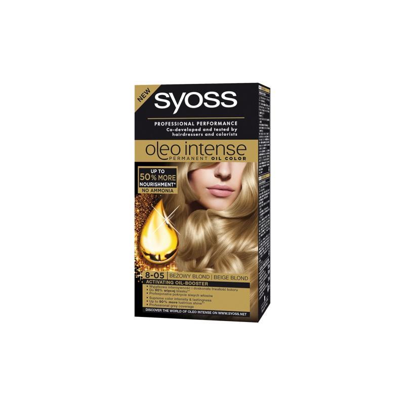 Oleo Intense farba do włosów trwale koloryzująca z olejkami 8-05 Beżowy Blond