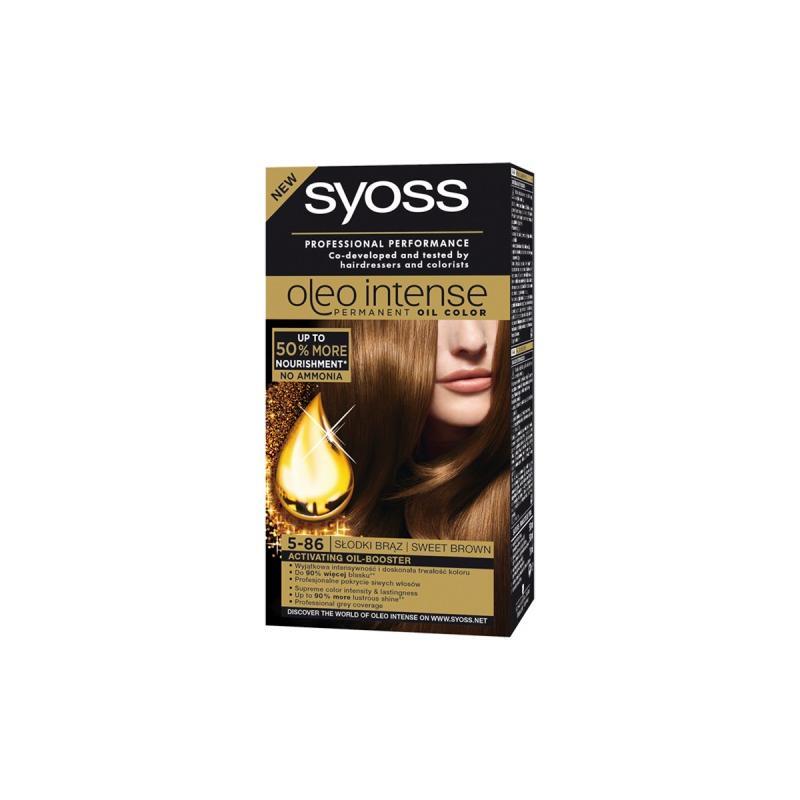 Oleo Intense farba do włosów trwale koloryzująca z olejkami 5-86 Słodki Brąz