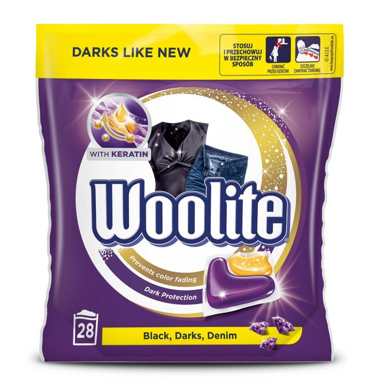 Black Darks Denim kapsułki do prania do tkanin ciemnych z keratyną 28szt