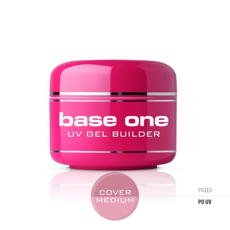 Gel Base One Cover Medium maskujący żel UV do paznokci 15g
