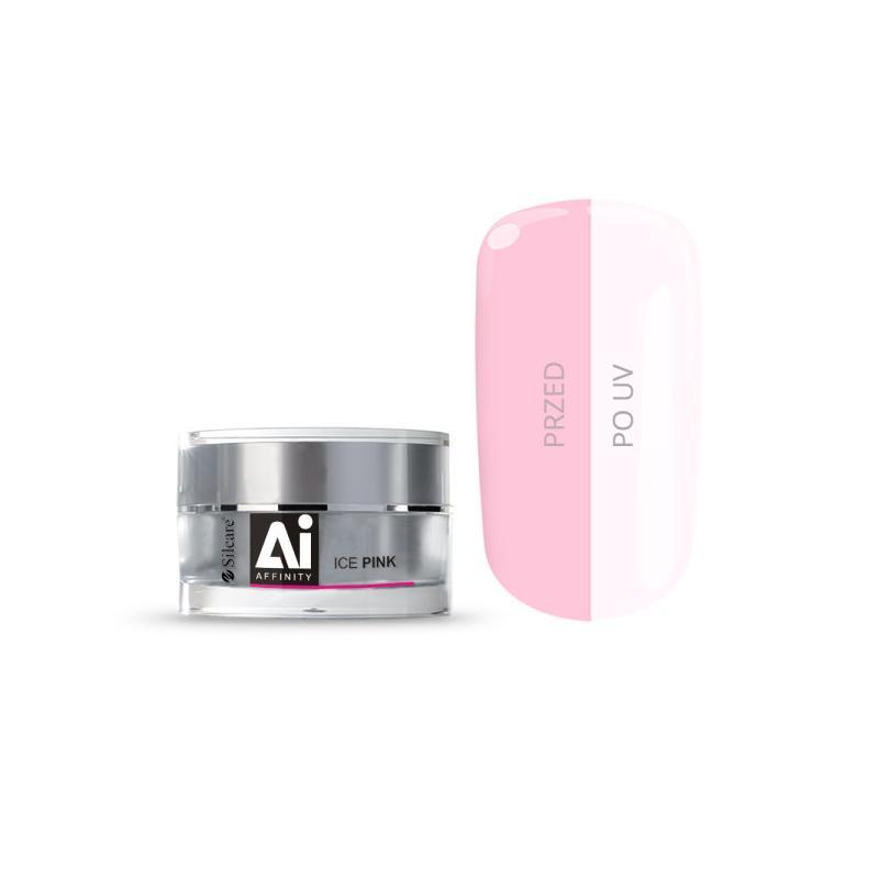 Gel Affinity średniogęsty jednofazowy żel do paznokci Ice Pink 15g