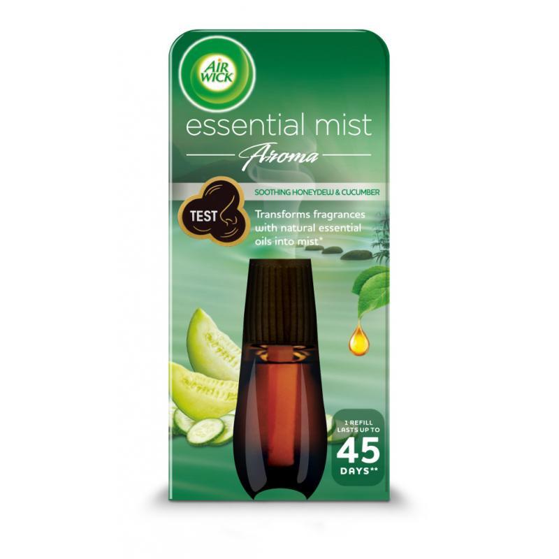 Essential Mist Aroma odprężający wkład do automatycznego odświeżacza o zapachu ogórka i melona miodowego 20ml