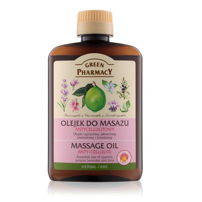 Massage Oil olejek do masażu ciała antycellulitowy Cyprys Jałowiec Lawenda i Limonka 200ml