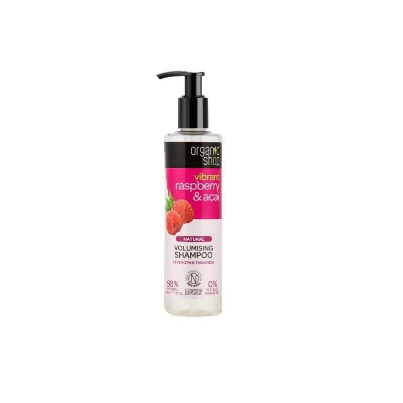 Natural Volumising Shampoo naturalny szampon zwiększający objętość włosów Raspberry & Acai 280ml