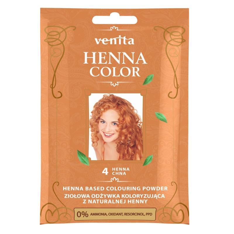 Henna Color ziołowa odżywka koloryzująca z naturalnej henny 4 Henna Chna