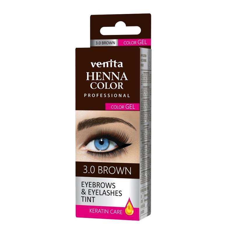Henna Color Gel żelowa farba do brwi i rzęs 3.0 Brown